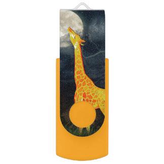 Commande d'instantané de wivel de girafe et de clé USB