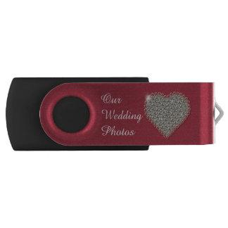 Commande d'USB de pivot de photos de mariage de Clé USB 2.0 Swivel