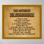 Commandements de la cow-girl Dix Affiches
