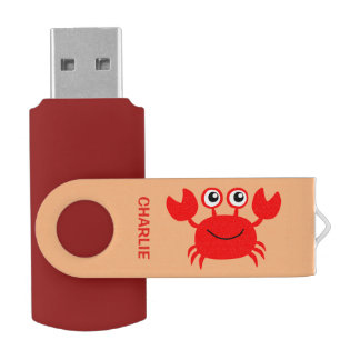 Commandes faites sur commande d'USB de crabe Clé USB 3.0 Swivel
