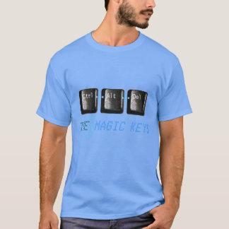 Commandez la suppression d'alt les 3 clés magiques t-shirt