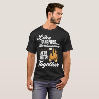 Comme des feux de camp et des guimauves améliorez t-shirt