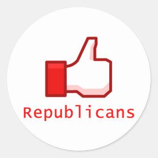 Comme des républicains sticker rond