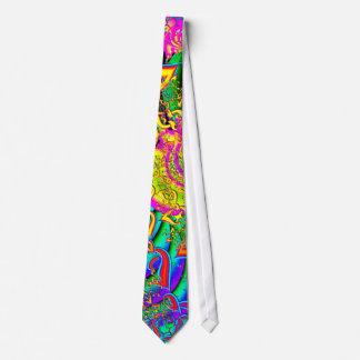 Comme la fractale psychédélique vibrante de cravate personnalisable