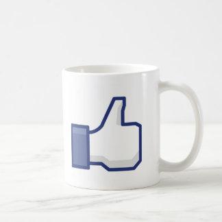 Comme la main mug blanc