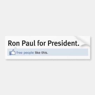 Comme l'adhésif pour pare-chocs de Ron Paul Autocollant De Voiture