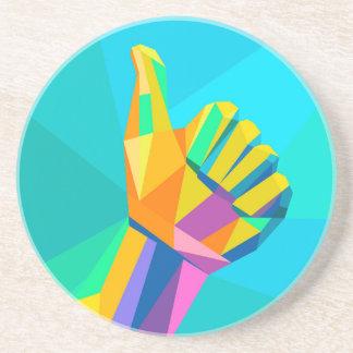 Comme le style géométrique de signe de main dessous de verre en grès