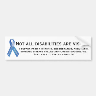 COMME maladie invisible Autocollant De Voiture