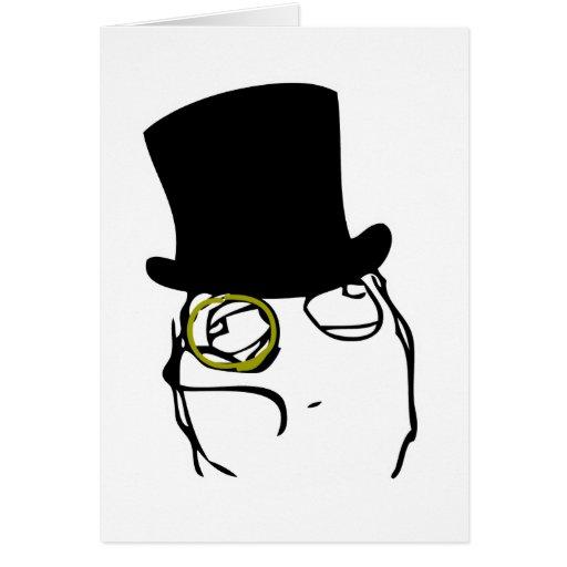 Comme monsieur Rage Face Meme Cartes