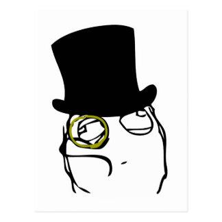 Comme monsieur Rage Face Meme Cartes Postales