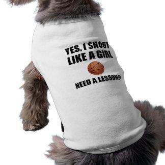 Comme un basket-ball de fille t-shirt pour chien