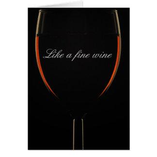 Comme un vin fin carte de vœux