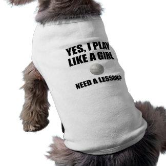 Comme un volleyball de fille t-shirt pour chien