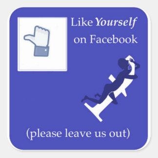 Comme vous-même sur Facebook Sticker Carré