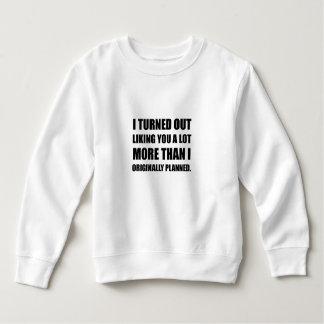 Comme vous plus que prévu sweatshirt
