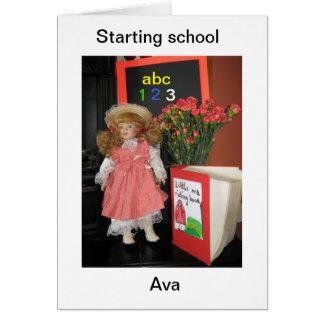 commencer l'école carte de vœux