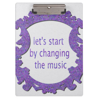 commençons par changer la musique