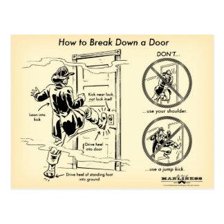 Comment décomposer une carte postale de porte