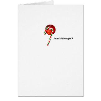 Comment est il sucre de canne de Hangin'? Carte De Vœux