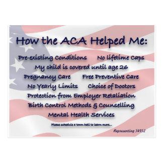 Comment l'ACA m'a aidé des cartes postales