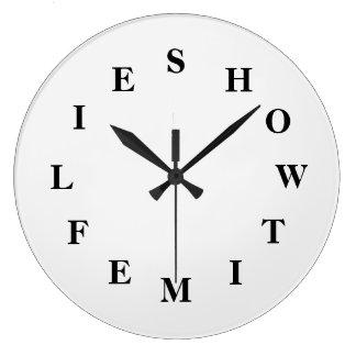 Comment le temps pilote blanc fumez grand grande horloge ronde