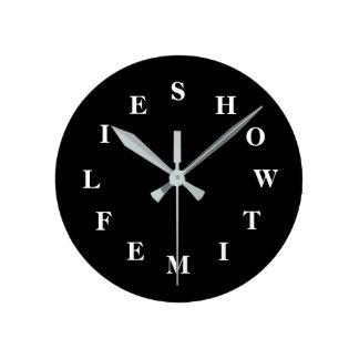 Comment le temps pilote l'horloge murale moyenne horloge ronde