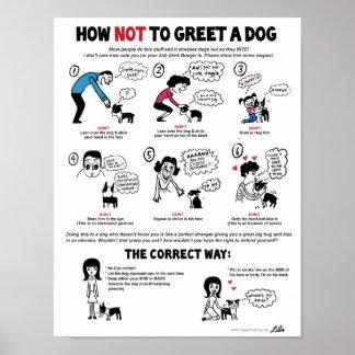 """Comment ne pas saluer un chien (11"""" x 14"""") posters"""