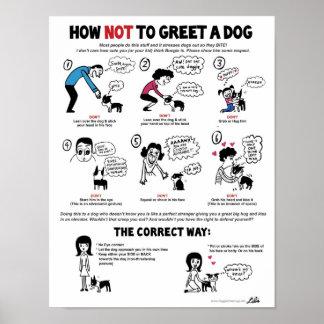 """Comment saluer une affiche de chien (11 x 14"""") - posters"""