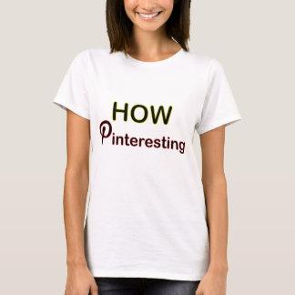Comment T-shirt social de médias de Pinteresting