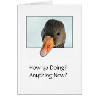 Comment vous faisant ? Quelque chose nouveau ? Carte De Vœux