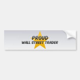 Commerçant fier de Wall Street Adhésif Pour Voiture
