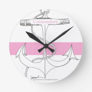 commodore rose, fernandes élégants horloge ronde