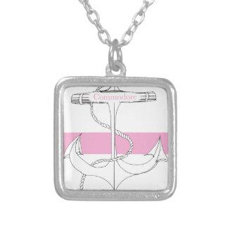 commodore rose, fernandes élégants pendentif carré