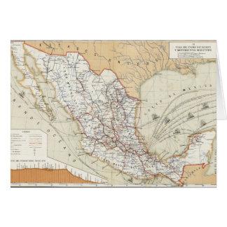 Communication et transport du Mexique Carte De Vœux