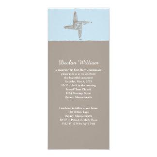 Communion de la croix | de St Brigid irlandais Carton D'invitation 10,16 Cm X 23,49 Cm