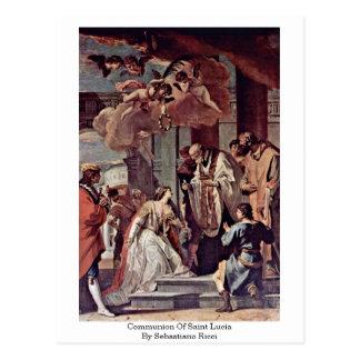 Communion de Sainte-Lucie par Sebastiano Ricci Cartes Postales