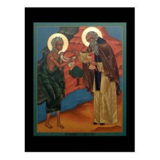 Communion de St Mary de carte de prière de