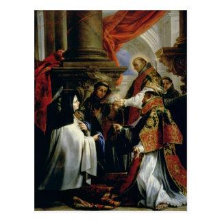 Communion de St Teresa d'Avila c.1670 Carte Postale