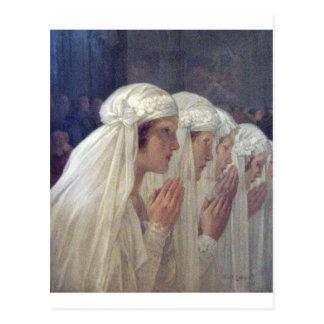 communion privat livemont carte postale