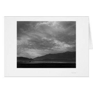 Commutateur de vue au-dessus de Manzanar, tempête Cartes