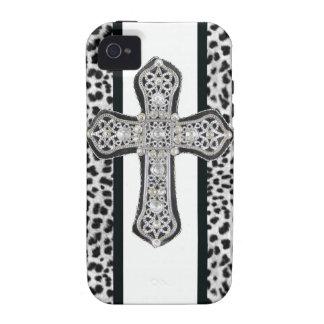 Compagnon de coque iphone de croix de fausse pierr coque vibe iPhone 4