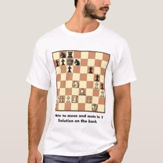 Compagnon d'échecs dans 1 T-shirt de base du