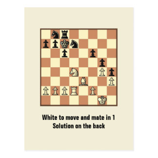 Compagnon d'échecs en 1 carte postale du puzzle #3