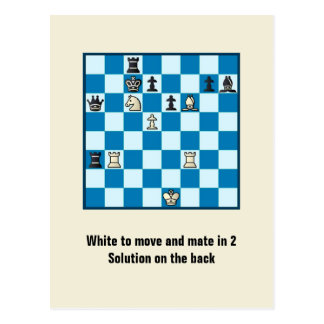 Compagnon d'échecs en 2 carte postale du puzzle #1