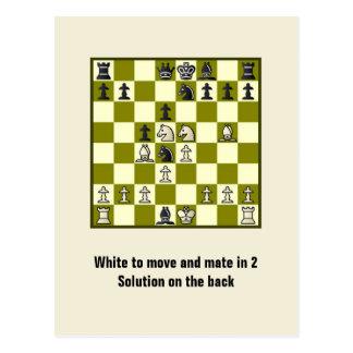 Compagnon d'échecs en 2 carte postale du puzzle #2