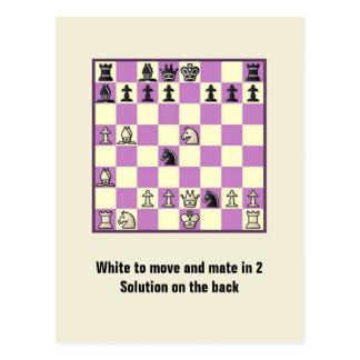 Compagnon d'échecs en 2 carte postale du puzzle #3