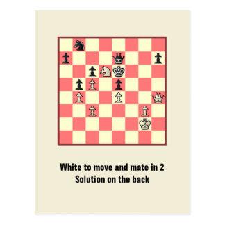 Compagnon d'échecs en 2 carte postale du puzzle #4