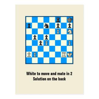 Compagnon d'échecs en 2 carte postale du puzzle #5