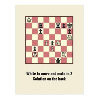 Compagnon d'échecs en 2 carte postale du puzzle #6