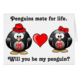 Compagnon pendant la vie vous serez mon amour de carte de vœux